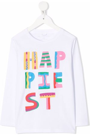 Stella McCartney Kids Niña Playeras - Playera con estampado Happiest