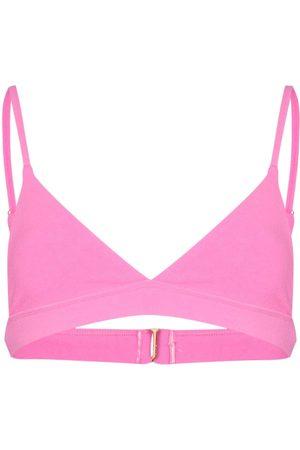 Frankies Bikinis Claire bikini triangle terry top