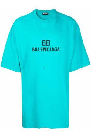 Balenciaga Playeras - Logo crew-neck T-shirt