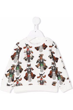 Stella McCartney Kids Sudaderas - Graphic-print crewneck sweatshirt