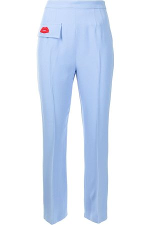 Nº21 Embroidered lip detail trousers