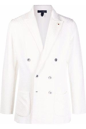 LARDINI Double-breasted cotton blazer