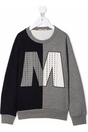 Marni Two-tone logo-print sweatshirt