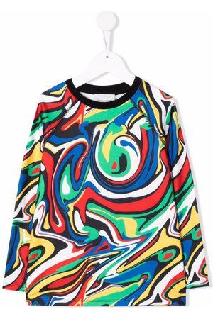 Stella McCartney Niño Playeras - Swirl-print T-shirt