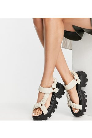 Public Desire Wide Fit Mujer Sandalias - Expectation chunky sandals in bone