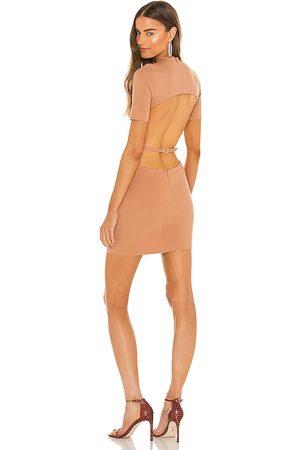 NBD Minivestido mini dress en color bronce talla L en - Tan. Talla L (también en XXS, XS, S, M, XL).