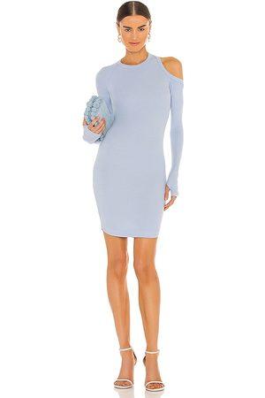 Alix NYC Minivestido elton en color baby blue talla L en - Baby Blue. Talla L (también en XS, S, M).
