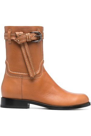 ERMANNO SCERVINO Mujer Botas y Botines - Knotted belt leather boots