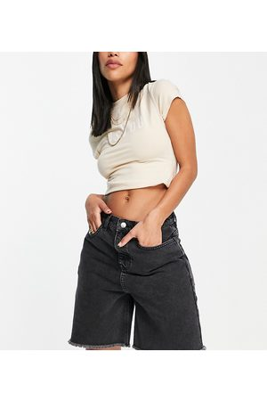 AsYou 90's dad short in washed black