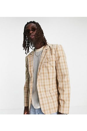 Reclaimed Hombre Sacos - Inspired couture suit jacket in check
