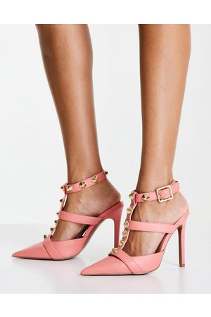 ASOS Mujer Tacones - Priyah studded high heeled shoes in pink