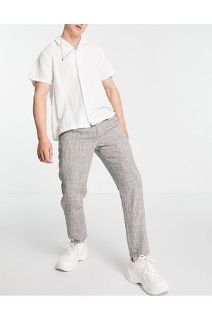 ASOS Cigarette fit trousers in lightweight texture