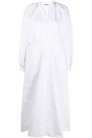 Jil Sander Vestido estilo túnica con pliegues