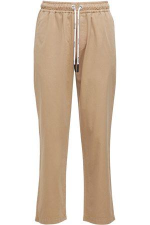 Palm Angels Pantalones Chinos De Algodón Con Logo