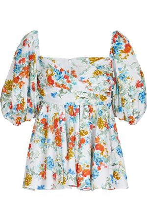 Caroline Constas Mujer Tops - Brie floral cotton-blend top