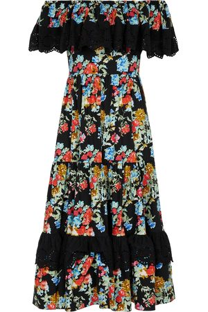 Caroline Constas Mujer Ajustados y entubados - Floral stretch-cotton midi dress