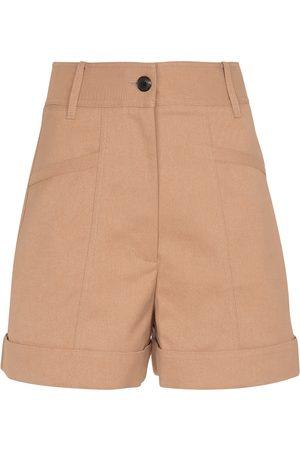Victoria Beckham Mujer Shorts - High-rise cotton-blend shorts
