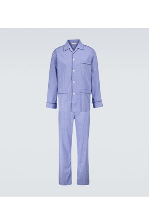 DEREK ROSE Hombre Pijamas - Felsted 3 checked cotton pajama set