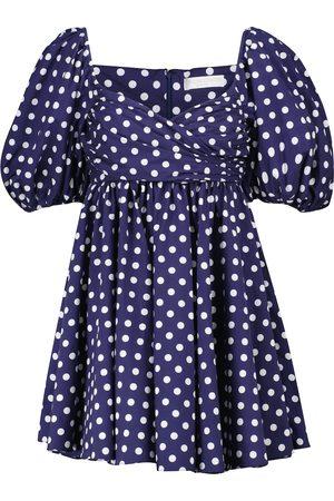 Caroline Constas Brie polka-dot cotton-blend minidress