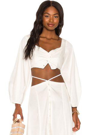 Cult Gaia Mavis top en color blanco talla L en - White. Talla L (también en XS, S, M).
