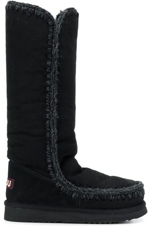 Mou Woven detail boots