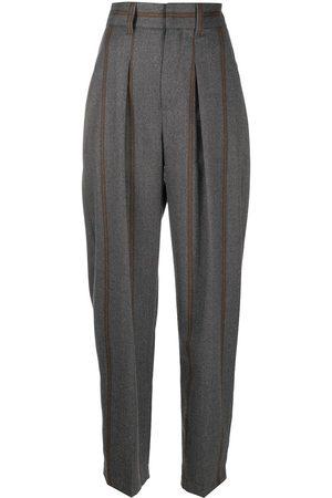 Brunello Cucinelli Pantalones tapered a rayas