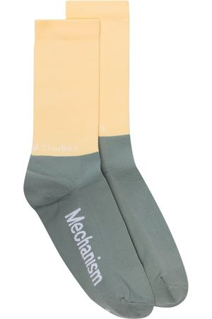 Pas Normal Studios Calcetines tejidos con diseño de dos tonos