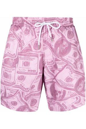 Philipp Plein Shorts de playa con dólares estampados
