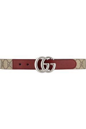 Gucci Kids Cinturón con placa del logo GG