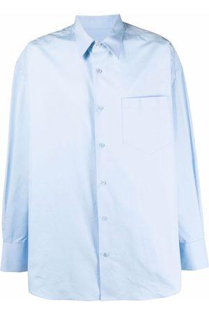Ami Manga larga - Camisa larga con bolsillo en el pecho