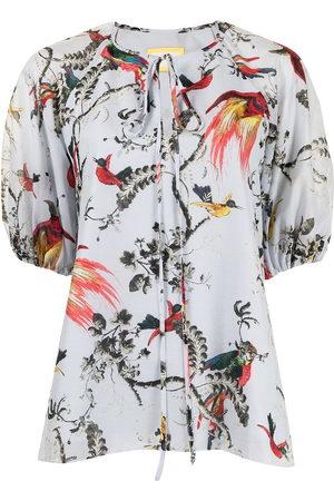 Erdem Blusa con estampado de pájaros