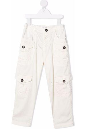 Brunello Cucinelli Kids Niño Pantalones y Leggings - Pantalones con bolsillos con solapa