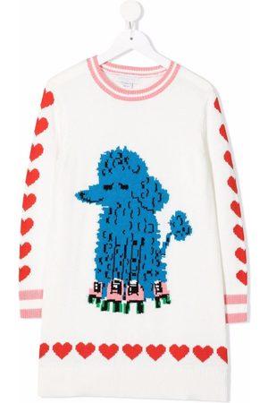Stella McCartney Kids Niña Estampados - Vestido tejido con estampado de perro