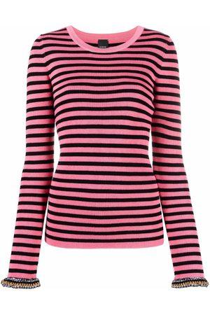 Pinko Mujer Tops - Top tejido con puños en contraste