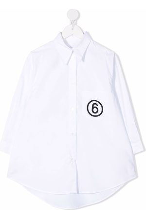 MM6 KIDS Camisa con logo estampado