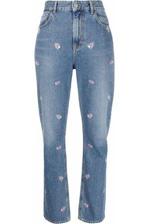 Pinko Jeans rectos con bordado floral