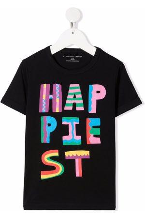 Stella McCartney Kids Playera con estampado Happiest