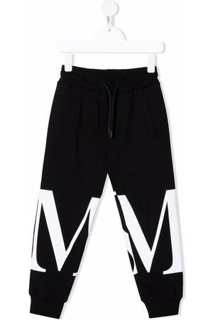 Msgm Niño Pantalones y Leggings - Pantalones de chándal con logo estampado