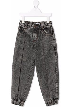 Brunello Cucinelli Kids Niña Jeans - Jeans rectos con efecto lavado