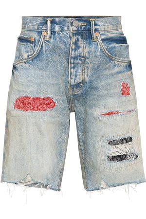 Purple Brand Pantalones vaqueros cortos con efecto envejecido