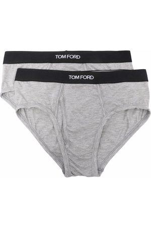 Tom Ford Hombre Calcetines - Pack de 2 piezas de ropa interior con logo en la pretina