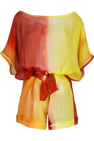 Amir Slama Mujer Largos - Jumpsuit corto de seda con efecto degradado