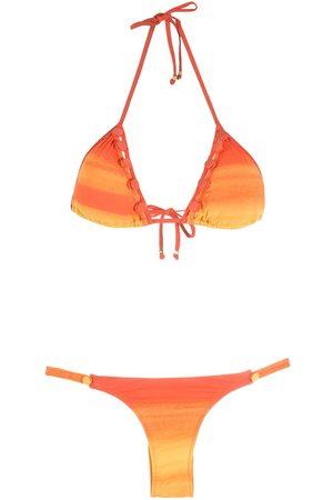 AMIR SLAMA Mujer Bikinis - Bikini a rayas con efecto sombreado