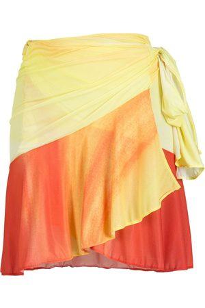 AMIR SLAMA Mujer Minifaldas - Minifalda de dos tonos