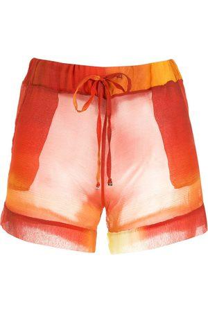 Amir Slama Shorts ligeros con diseño de dos tonos