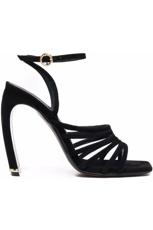Lanvin Mujer De tacón - Square-toe suede heeled sandals