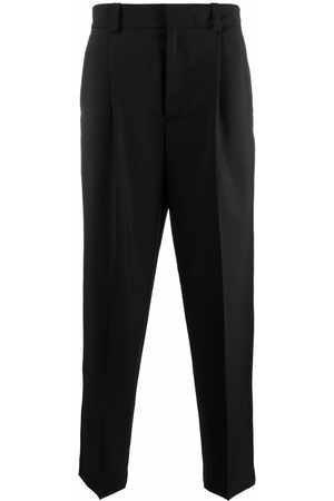 Acne Studios Tapered-leg tailored-cut trousers