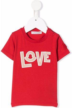 Moncler Love applique T-shirt