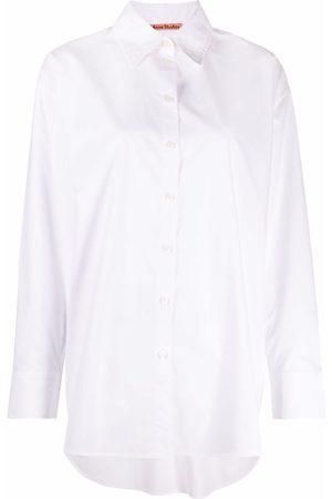 Acne Studios Camisa con dobladillo redondeado