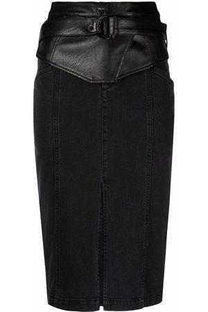 Pinko Mujer De mezclilla - Falda de mezclilla con cinturón